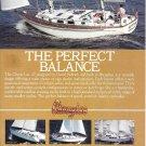 1987 Cheoy Lee Shipyard Color Ad- Nice Photo Pedrick 47'