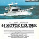 1987 Kong & Halvorsen 44' Motor Cruiser Color Ad- Specs- Nice Photo