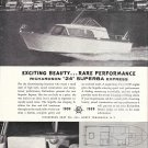 1959 Richardson Boat Co Ad- Nice Photo 24' Superba Express