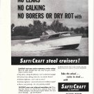 1959 SaftiCraft Boats Ad- Nice Photo 31' Express