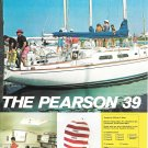1973 Pearson 39 Yacht 2 Page ColorAd- Nice Photos