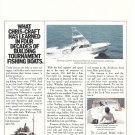 Old Chris- Craft 45' Tournament Fisherman Yacht 2 Page Color Ad- Nice Photos