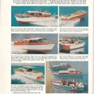 1959 Chris- Craft Yachts Ad- Nice Color photos of 8 Models