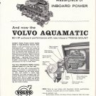 1959 Volvo Aquamatic Inboard Boat motor Ad- Nice Photo