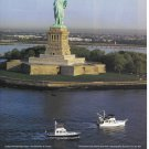 2001 Grand Banks Yachts Color Ad- Nice Photo 43' & 42- Statue of Liberty
