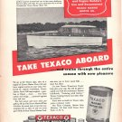 1951 Texaco Marine Ad- Nice Photo of Richardson 32 Sedan Yacht