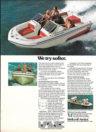 1973 Wellcraft Marine Color Ad-Nice Photo Airslot- Hot Girls