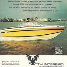 1977 Thunderbird Formula 20CL Boat Color Ad- Nice Photo