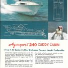 1977 Aquasport 240 Cuddy Cabin Yacht Color Ad- Nice Photo