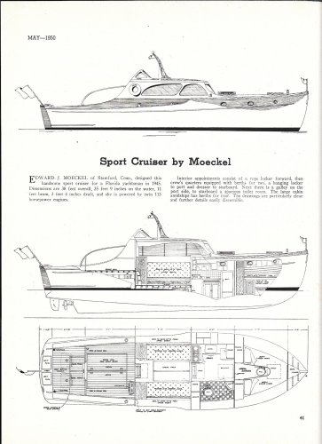 1950 Moeckel 38' Sport Cruiser Boat Review