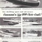 1950 Chris- Craft Yachts Ad- Nice Photos of 6 Models