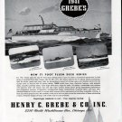 1941 Henry C Grebe Yachts Ad- Photos of 3 Models