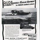 1941 Buda Marine Engines Ad- Great Photo Burger 57' Yacht