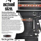 1968 Kiekhaefer Mercury 80 HP. Outboard Motor Color Ad- Nice Photo