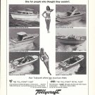1968 Tollycraft Boats Ad- Nice Photos 6 Models- Hot Girls
