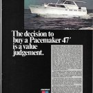 1968 Pacemaker 47' Motor Yacht Color Ad- Nice Photo