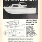 1968 Super- Craft Boat Co Ad- Nice Photo Phantom 24