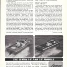 1968 Lyman Boat Works Ad- Nice Photo of 18' & 22'