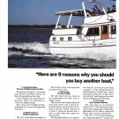 1987 Albin Marine Albin 43 Trawler 2 Page Color Ad- Nice Photo