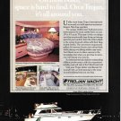 1987 Trojan International 13 Meter Sedan Yacht Color Ad- Nice Photo