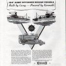 1943 WW II Kermath Marine Engines Ad- Nice Photo Casey War Boats