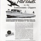 1943 WW II Kermath Marine Engines Ad-Nice Photo Wheeler Pilot Boat