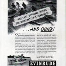 1943 WW II Evinrude Outboard Motors Ad-Nice Drawing Mountbatten's Commandos
