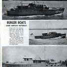 1943 WW II Burger Boat Co Ad- Great Photos of War Boats