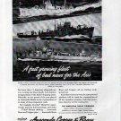 1943 WW II Anaconda Copper Ad- Nice Photos War Boats