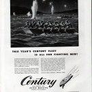 1943 WW II Century Boat Company Ad- Nice Drawing Storm Boats