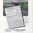 1942 WW II Electric Boat Co Ad- Nice Photo elco Motor Torpedo Boats