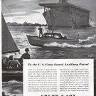 1943 WW II Chubb Insurance Ad-Nice Falans Drawing U S Coast Guard Auxiliary
