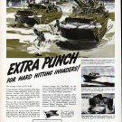 1943 WW II Federal Mogul Ad- Nice Drawing Amphibian Ducks