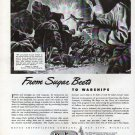 1943 WW II Defoe Shipbuilding Co Ad- Drawing of Welder