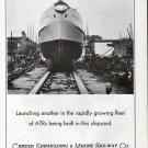 1943 WW II Camden Shipbuilding Co Ad-Great Photo ATR War Boat Launch