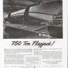 1943 WW II Defoe Shipbuilding Co Ad-Nice Drawing U S S Bunch Flapjack