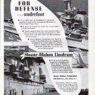 1941 Sloane-Blabon Linoleum Ad-Nice Photos War Boat Wasp & Infanta