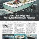 1972 Chris- Craft Boats Color Ad- Nice Photo 23' Lancer