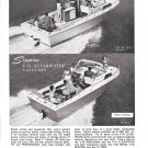 1966 Stamas Boats Inc Ad- Nice Photo V-24 Clearwater & V-26 Americana