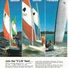 Old AMF Alcort Sailboats Color Ad- Nice Photo Minifish-Sunfish-Flyingfish