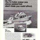 1975 Tollycraft 34 Tri- Cabin Yacht Ad- Nice Photo