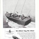 1957 Century Boat Company Ad- Nice Drawing Raven 22' & Viking 19'
