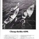 1972 Sunflower Sailboats Ad- Nice Photo