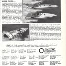1985 Fountain Powerboats Ad- Nice Photo of 4 Models