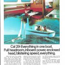 1972 Jensen Marine Color Ad- Nice Photo of Cal 29 Sailboat