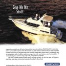 1996 Carver Yacht Company Color Ad- Nice Photo of 400 Cockpit Motor Yacht