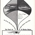 1962 Winther Marine Ad- Nice Photo of 2 Chris- Craft Boats