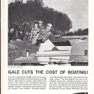 1962 Gale V Sovereign 60 HP Outboard Motor Ad- Nice Drawing