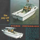 1971 Stamas Boats Color Ad- Nice Photo of Apollo V-21 & V-24 Clearwater