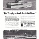 1962 Matthews 42' & 52' Yachts Ad- Nice Photo